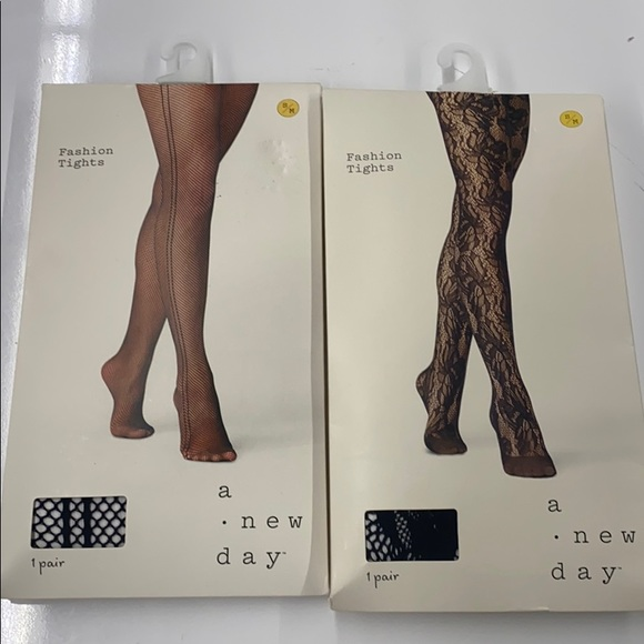 A new day fashion tights, 2 pack S/M